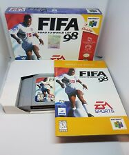 FIFA: Road to World Cup 98 Nintendo 64 GAME COMPLETE IN BOX CIB