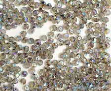Swarovski Crystal #5000 3mm Black Diamond AB 2X  beads gray color