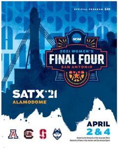 2021 WOMEN'S FINAL FOUR GAME PROGRAM STANFORD SOUTH CAROLINA UCONN ARIZONA NCAA