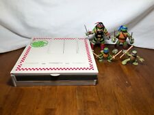 2012 Playmates TMNT Anchovy Alley Pop-Up Playset + 4 Ninja Turtle Action Figures