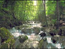 Wasserfall - Bedruckter Zaun Sichtschutzstreifen