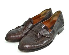 ML MARGAEZ DE LEON BROWN LIZARD GENUINE LEATHER SHOES SIZE 8 MADE IN MEXICO S 7