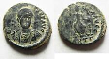 ZURQIEH -AS12060- THEODOSIUS II AE 3 . NICE ORIGNAL PATINA