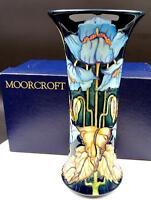 "MOORCROFT PHILIP GIBSON #601 LIMITED LARGE 10"" BLUE RHAPSODY VASE ORIG BOX 2001"