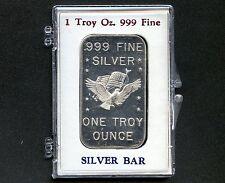 1 Oz. Silver Bar American Precious Metals Eagle With Flag