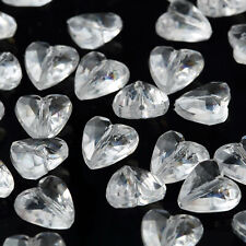 1000 Clear Acrylic Mini Hearts Beads Wedding Party Favors Decorations Supplies