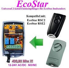 EcoStar universal 2-kanal Funkempfänger 12-24 VAC/VDC für RSC2 & RSE2 handsender