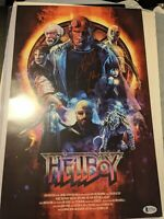 Ron Perlman signed 11x17 Hellboy poster BECKETT BAS AUTHENTICATED character name
