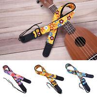 New Tropical Style Adjustable Ukulele Strap Sling With Hook For Ukulele Guitar