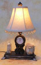 Tischlampe Lampe Schreibtischleuchte mit Uhr antik Look edel PQ009-a