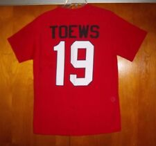 NHL Chicago Blackhawks Jersey T-Shirt Jonathan Toews #19 Unisex Youth Size M