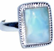 Larimar Sterling SILVER Ring RARE Gemstone Unique Handmade 925 Jewelry All Sizes