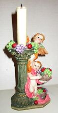 Colorful Cherubs Candle Holder with Candle in the Original Box
