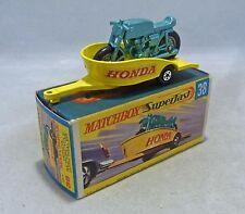 Matchbox Superfast MB38 Honda Motorcycle & Remolque