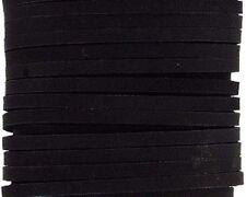 "BLACK UTILITY LATIGO LEATHER LACE 1/8"" x 4 yard 5112-01 Tandy Craft Card"