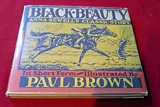Black Beauty by Anna Sewell  Short Form Autographed Paul Brown HCDJ Very Rare