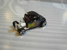 1998 HOT WHEELS   loose  = `32 FORD COUPE = BLACK w/t flames  , sb