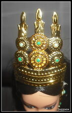 CROWN  BARBIE  DOTW PRINCESS OF CAMBODIA DOLL FAUX GOLD  ORNATE HEADPIECE