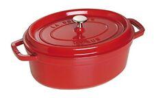Staub 1102706 Cocotte cazuela de hierro fundido ovalado 27cm rojo cereza con