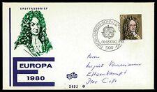BUND FDC 1980 EUROPA CEPT LEIBNIZ bv23