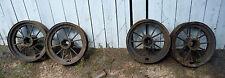 Set Of Antique Four Matching Spoke Wheels