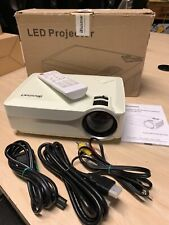 Projector, Blusmart LED-9400 Mini Portable Home Video Projector