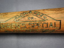 Nice 1940s HoF George Kell by Jos. Kren No. KSHT  Profesional Model Baseball Bat
