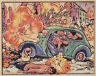"""GUN SHELLS DARING WAR REPORTERS in SPAIN - 1938 GUM INC """"horrors of war"""" card"""