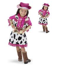 Girls Cowgirl Costume Kids Western Cow Fancy Dress Cowboy book week 3-4 year