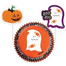 Wilton Halloween Cupcake Combo Hornear Conjunto casos & picks Muffin Horno Tazas Nueva