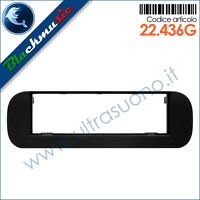 Mascherina supporto autoradio ISO Fiat Panda 3 (319 dal 2012) colore nero opaco