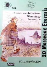 Accordéon diatonique : recueil de tablatures 20 morceaux Ecossais - diato trad