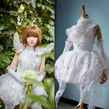 CARDCAPTOR SAKURA Kinomoto Clamp 15th White Bride Wedding Dress Cosplay Costume
