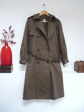 Ladies Lovely Gap Green Knee Length Double Breasted Belted Coat Mac, Size 6 Vgc