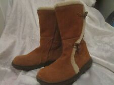 Women's NEW  ROCKET DOG Slope Classic Calf Fur Winter Boots Suede Size 8 UK