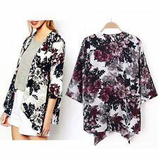 Unbranded Chiffon Casual Floral Coats & Jackets for Women