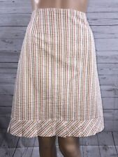 Harold's Pencil Skirt Size 10 Vertical Striped Pleated Ruffle Trim Knee Length