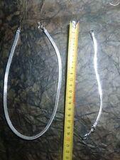 collana 48 CM BRACCIALE 20 CM bagno argento indiano  SNAKE   br picc piatto