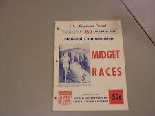 NOVEMBER 27,1958,150 LAP NATIONAL USAC MIDGET RACE PROGRAM,GARDENA STADIUM,CA,AS