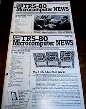 TRS-80 Microcomputer News - April thru November 1981 - 8 Issues