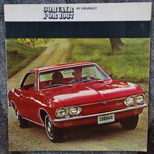 Prospectus broschure CHEVROLET CORVAIR 1967 XL FORMAT RARE RARE