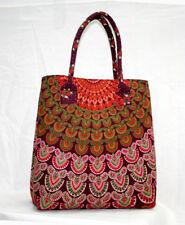 Indian 100%Cotton Handmade Mandala Print Boho Hippie Tote Carry Shoulder Bag Art