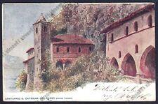 VARESE LEGGIUNO 15 SANTA CATERINA del SASSO Cartolina primi '900 MA viagg. 1916