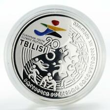 Georgia 10 lari Youth Olympic Festival Tbilisi silver coin 2015