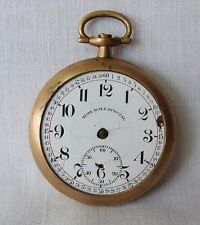 Antique Time Ball Special Porcelain Brass Train Station Watch, restoration parts