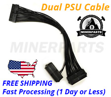 24PIN 20+4 Dual PSU Multiple Power Supply Splitter Adapter 33cm Cable Cord - FS