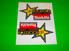 SUZUKI RM RMZ 80 85 100 125 250 450 MAKITA ROCKSTAR ENERGY MOTOCROSS STICKERS #
