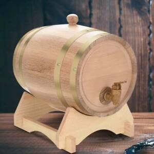 5 L Wooden Small Oak Barrel Whiskey Cask Mini Keg Wine Storage Cask with Stand