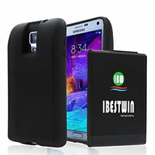 IBESTWIN Samsung Galaxy Note 4 10000mah Extended Battery+Black TPU Protection
