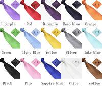 Man's Silk Hand Made Tie Cufflinks and Handkerchief Gift Set Hanky Woven Necktie